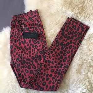 Carmar Ryan Style Jeans in Red Cheetah